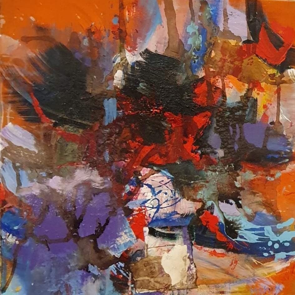Black wings  -  80x80 cm