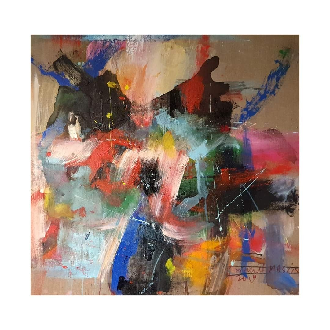 chromatic and jazz meeting -  80x80 cm