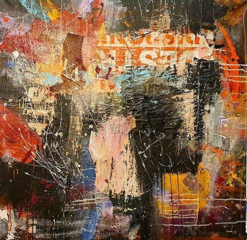 affiche 2 --  100x100 cm  Sold - Sold