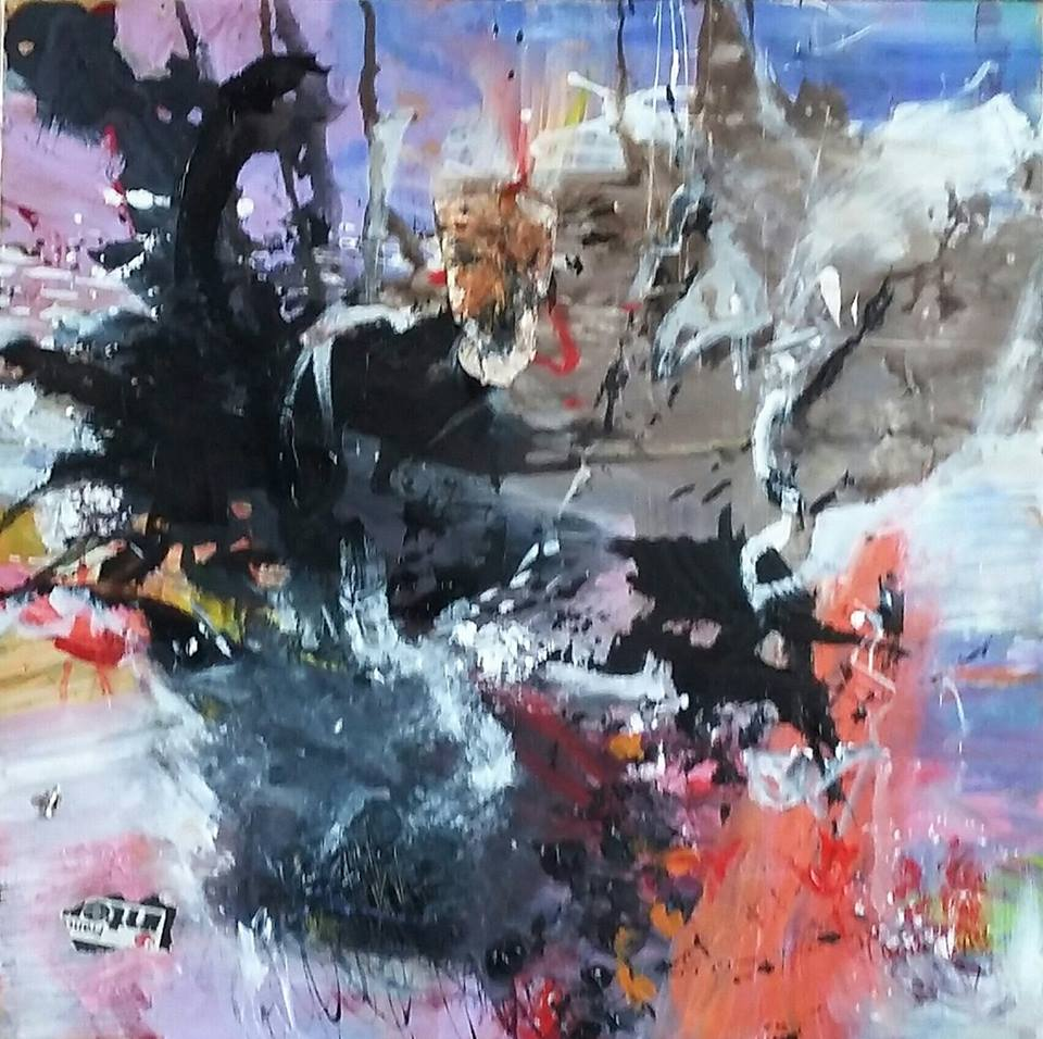 in the stratosphere 90x90 cm