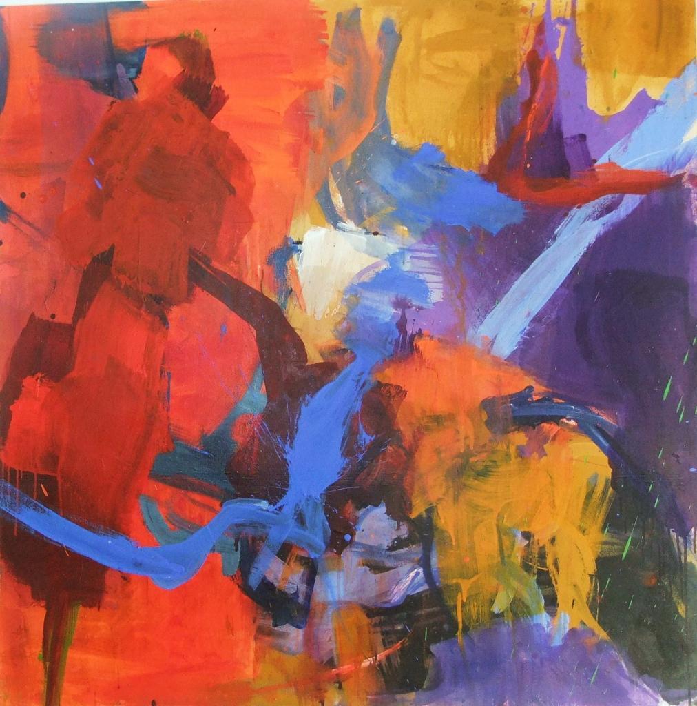 2 taches rouges - 120 x 120 (2010)