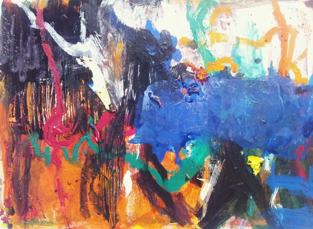 dancing in the blue 50x65 - (2012)
