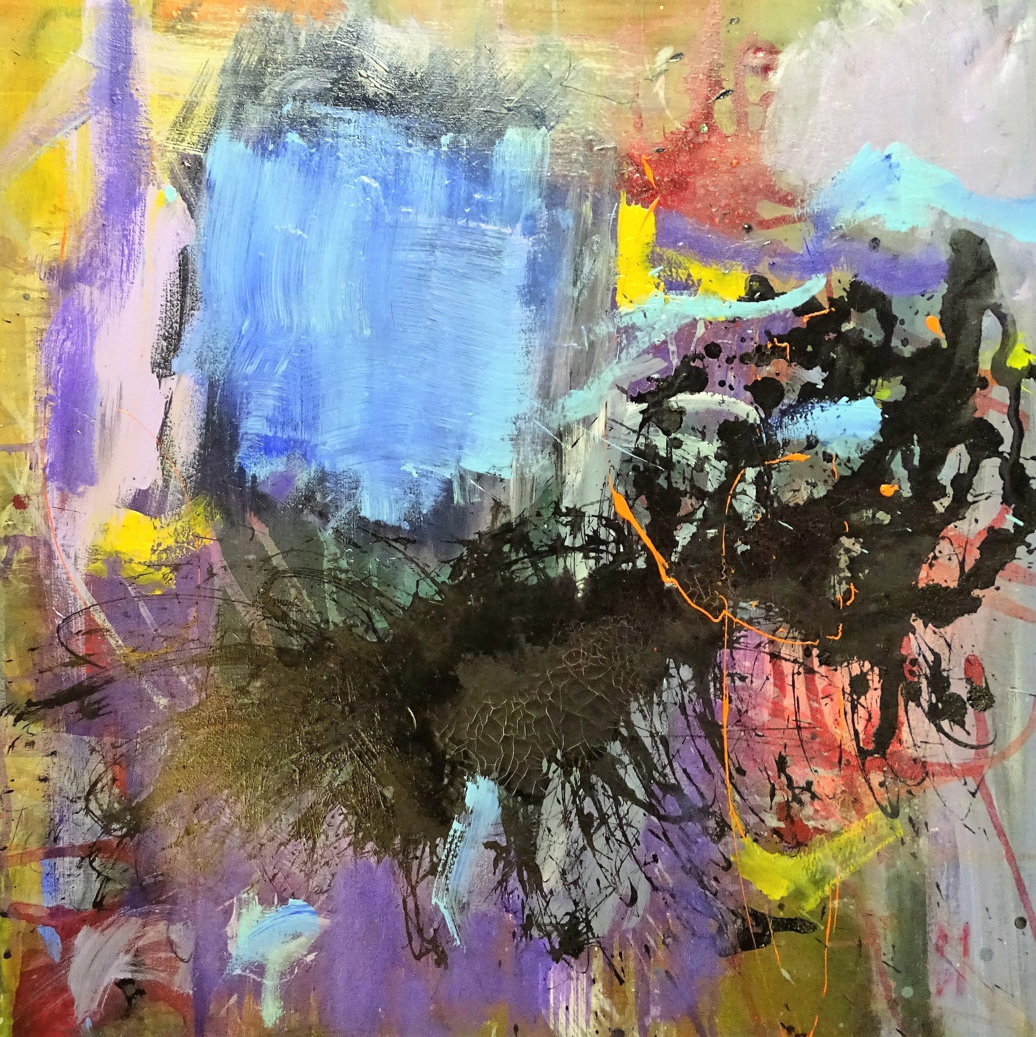 Crystal clear   -  acrylic on canvas 80x80 cm