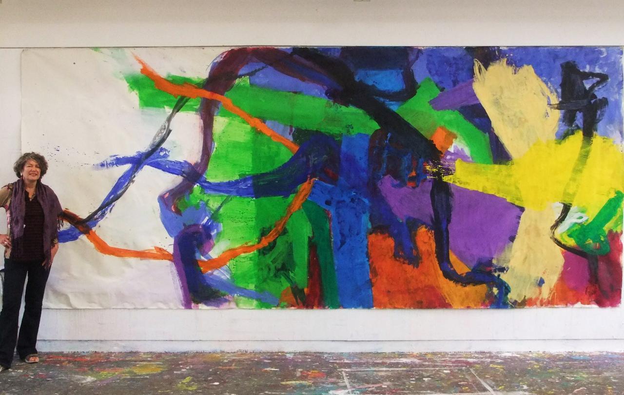 Devant ma peinture - le déroulement-5X2 M