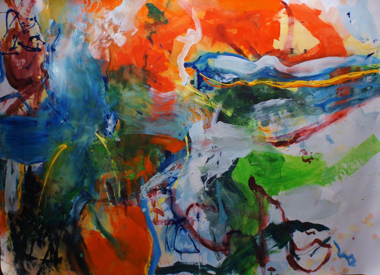 la coulée orange 200x150 (2012)