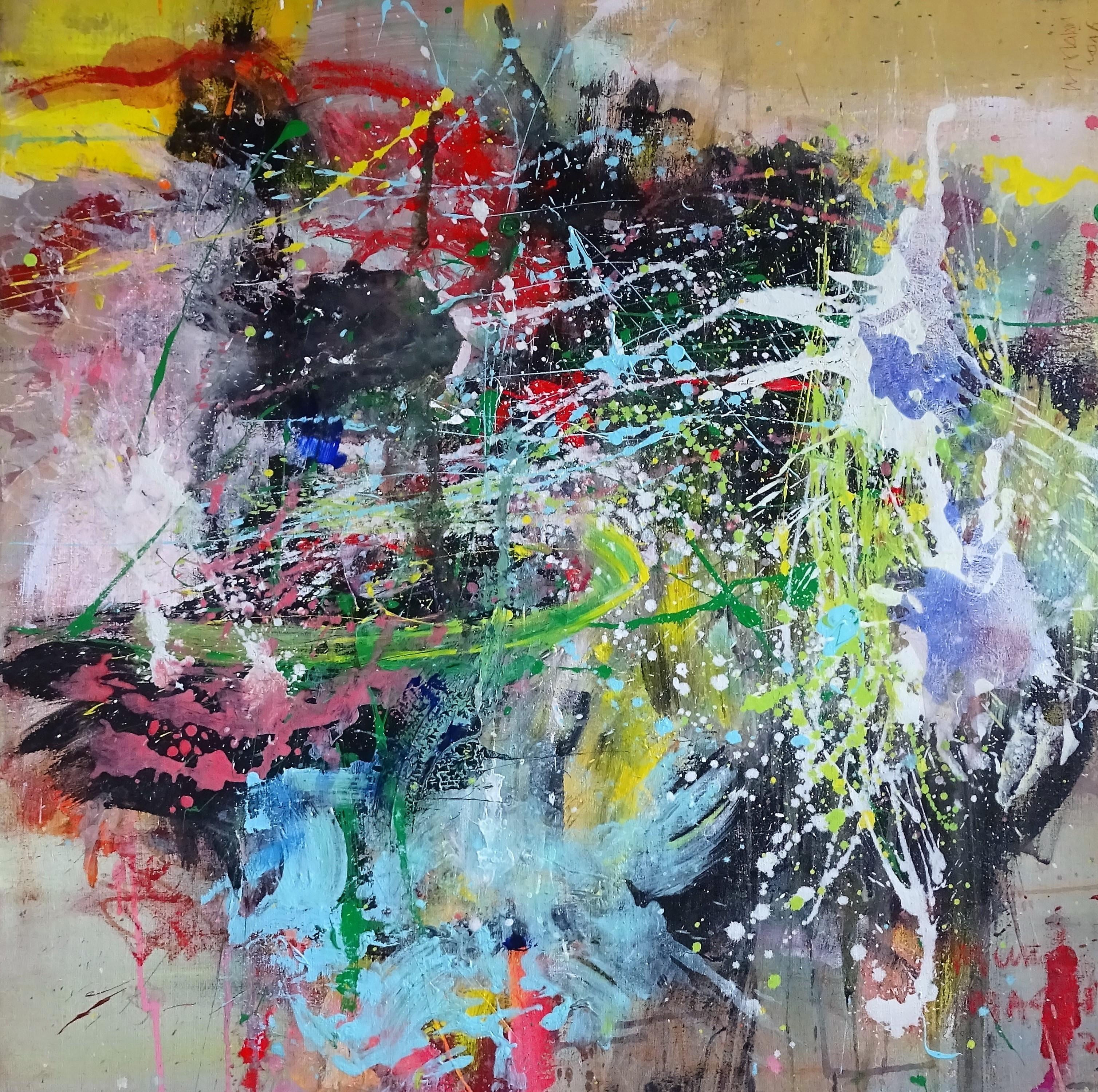 happy colours -100x100 cm- Eine_Art_ Gallery, Brems (Germany)