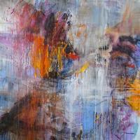 Paintclouds-  acrylic on canvas 120x120 cm 2020