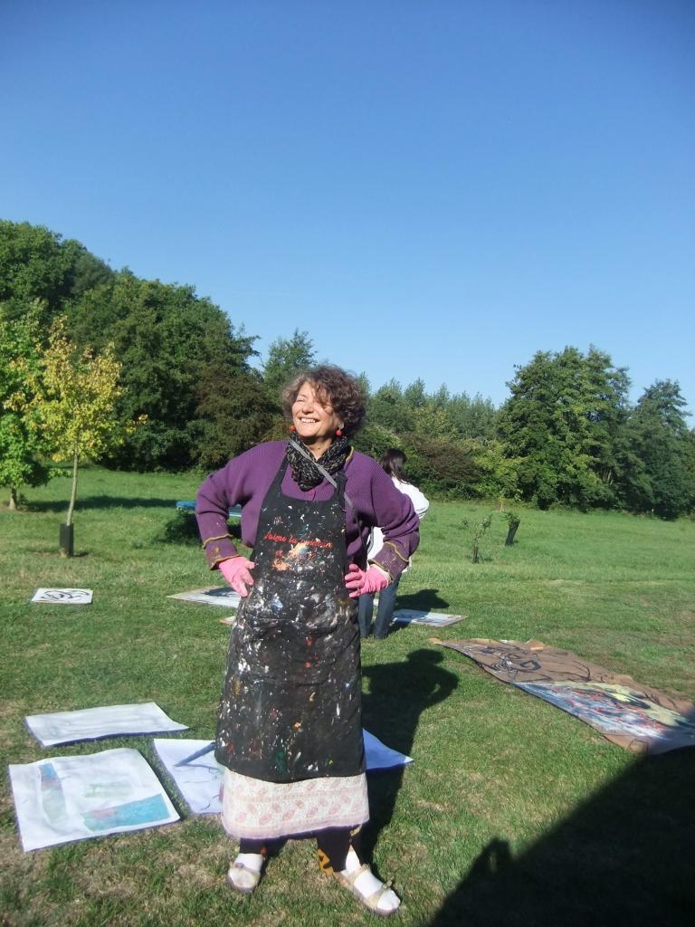 Peinture dans la Sarthe  en tenue de peintre !!