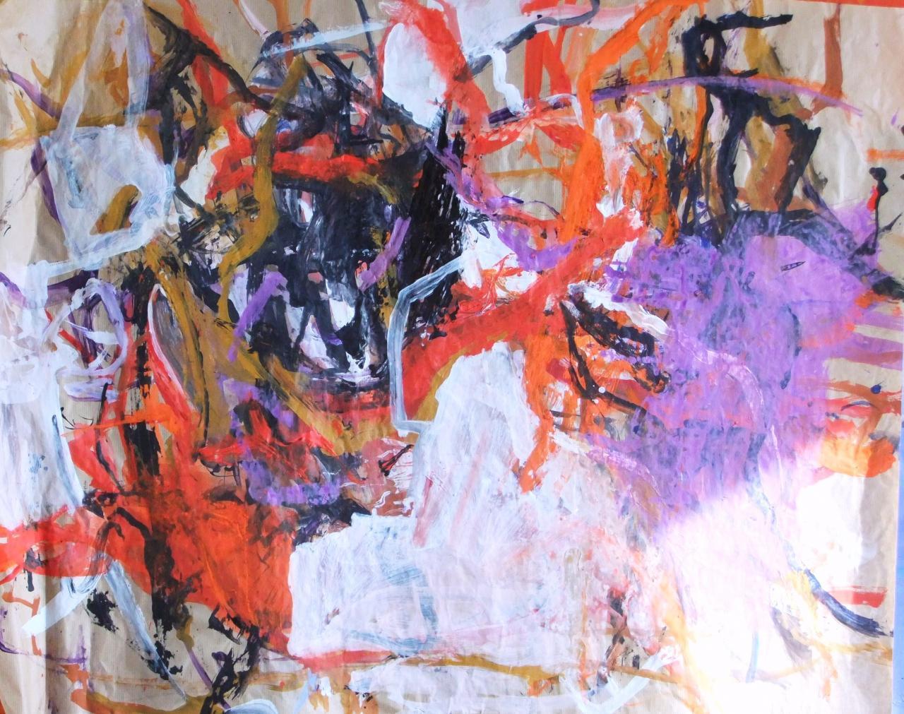 Rhytmes mauves - 65 X 56  - 2011