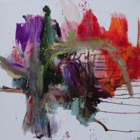 Soul's colours   120x120 cm 2019