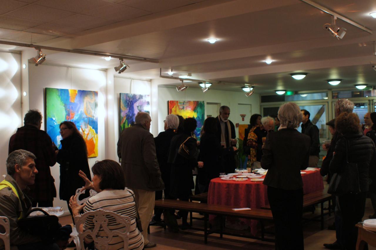 Vernissage à la galerie des 7 Parnassiens - Mars 2012